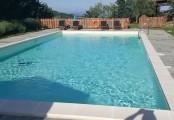 La piscina ristrutturata